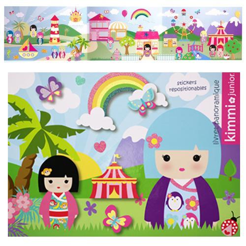 Kokeshi kimmi junior stickers repositionnables et son - Creer son sticker mural ...