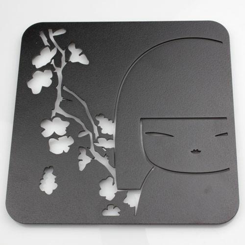 Kokeshi kimmidoll accessoires dessous de plat carr en - Dessous de plat en metal ...