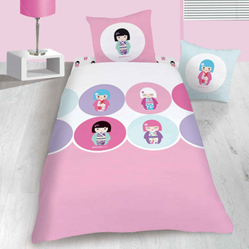 kokeshi linge de maison housse de couette taie d 39 oreiller kimmi junior confettis. Black Bedroom Furniture Sets. Home Design Ideas