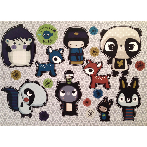 Kokeshi stickers kokeshi stickers les tanukis for Stickers kokeshi