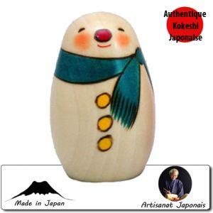 Kokeshi Noel  Snowman New (9cm)