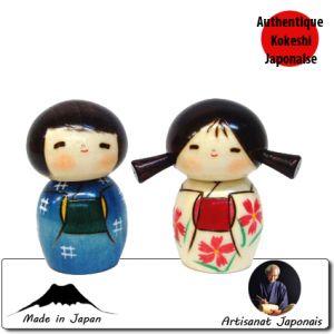 Kokeshi Enfants  Nakayoshi (7cm)