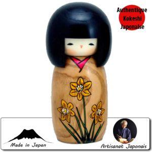 Kokeshi Jeunes filles  Suisen - Story Of Flower (14cm)