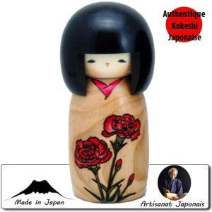 Kokeshi Jeunes filles  Carnation - Story Of Flower (14cm)