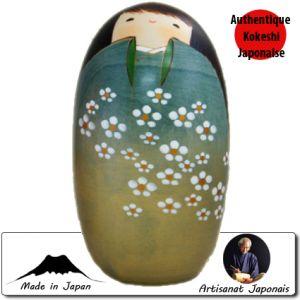 Kokeshi Ovales  Shiawase Verte Ll (17cm)