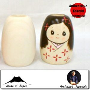 Kokeshi à Customiser  Porte Cure-dent Model - Toothpick Holder Model (6 Cm)
