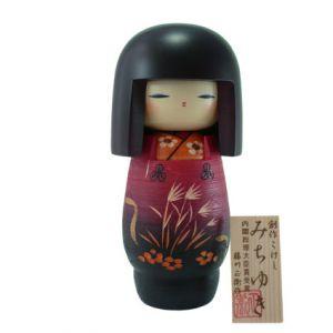 Kokeshi Jeunes filles  Michiyuki (19 cm)