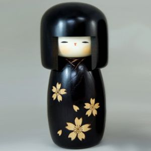Kokeshi Jeunes filles (+ de 14 cm)  Zohgan Sakura (L) (21cm)