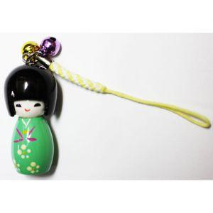 Kokeshi Chinoise Grand Strap Kokeshi Vert Clair (4cm)