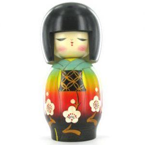Kokeshi Jeunes filles (+ de 14 cm)  Hidamari (17cm)