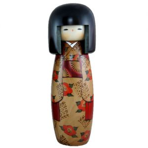 Kokeshi Jeunes filles (+ de 14 cm)  Kantsubaki (L) (31cm)