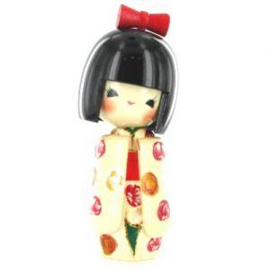 Kokeshi Jeunes filles  Otomesode White (15cm)