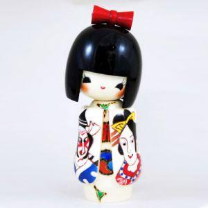 Kokeshi Jeunes filles  Kabukiekokeshi (15cm)