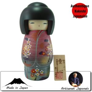 Kokeshi Jeunes filles (+ de 14 cm)  Doshin (21cm)