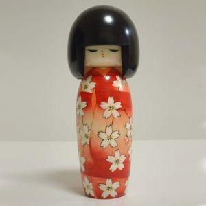 Kokeshi Jeunes filles (+ de 14 cm)  Ohkaryoran (22cm)