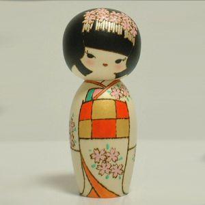Kokeshi Jeunes filles (+ de 14 cm)  Hime (15cm)