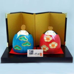 Kokeshi Couples  Waraihina Set (7cm)