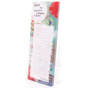 Carnet Verity Rose Bloc Magnétique - Liste - Verity Rose