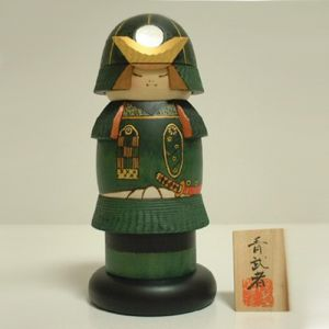 Kokeshi Guerriers  Warrior Blue (21cm)