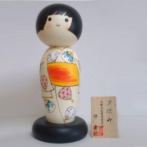 Kokeshi Jeunes filles (+ de 14 cm)  Yusuzumi (24cm)