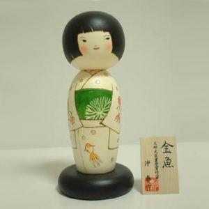 Kokeshi Jeunes filles  Goldfish (24cm)