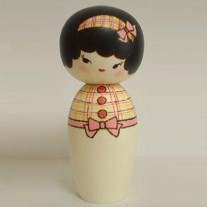 Kokeshi Jeunes filles (+ de 14 cm)  Ribbon (15cm)