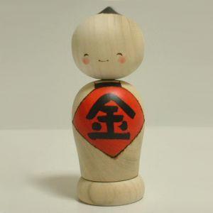 Kokeshi Jeunes filles (+ de 14 cm)  Hesokuri (15cm)