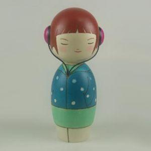 Kokeshi Jeunes filles (+ de 14 cm)  Melody (16cm)