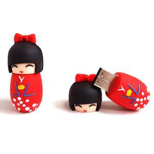 Kokeshi USB  Clé USB 32Go - Kokeshi Rouge