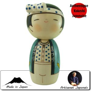 Kokeshi Guerriers  Wassyoi Homme (15cm)