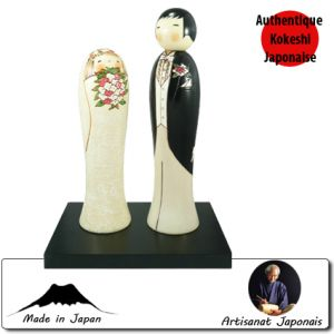 Kokeshi Couples  Wedding Set (26cm)