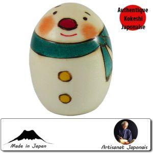 Kokeshi Noel Mini Snowman L (7cm)