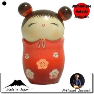 Kokeshi Jeunes filles  Memory Rouge (13cm)