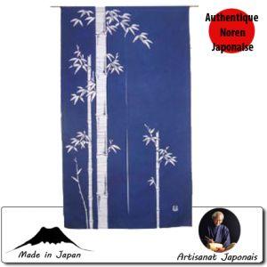 Noren  Noren Bamboo, Fond Bleu (85 X 150cm)