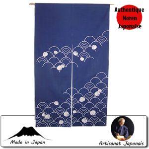 Noren  Noren Vagues, Fond Bleu (85 X 150cm)