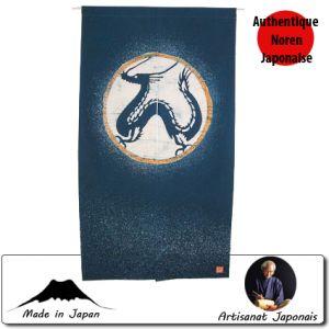 Noren  Noren Dragon, Fond Bleu (85 X 150cm)