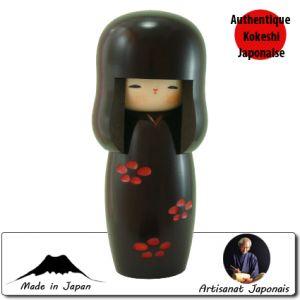 Kokeshi Jeunes filles  Syunsai Noire (S) (14cm)