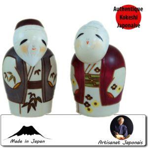 Kokeshi Couples  Enmancyoujyu (11cm)