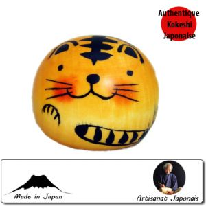 Kokeshi Animaux  Happy Tiger (6cm)
