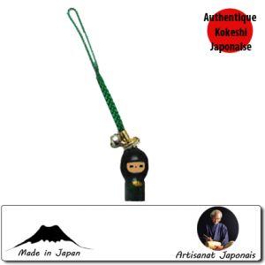 Kokeshi Straps  Strap Aityan Netsuke Vert