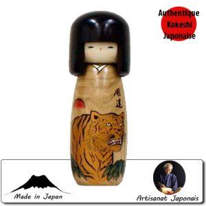 Kokeshi Horoscope  Kokeshi Porte-bonheur - Tigre - Taille M (26cm)