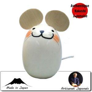 Kokeshi Animaux  Happy Mouse (13cm)